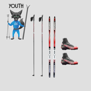 youth classic skis rental